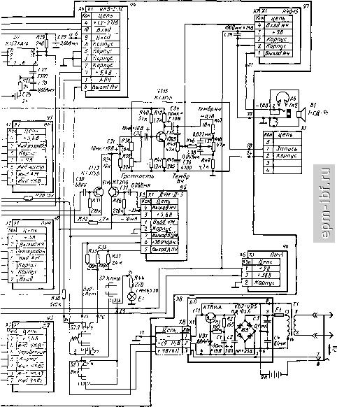 принципиальная схема радиоприемника меридиан 235
